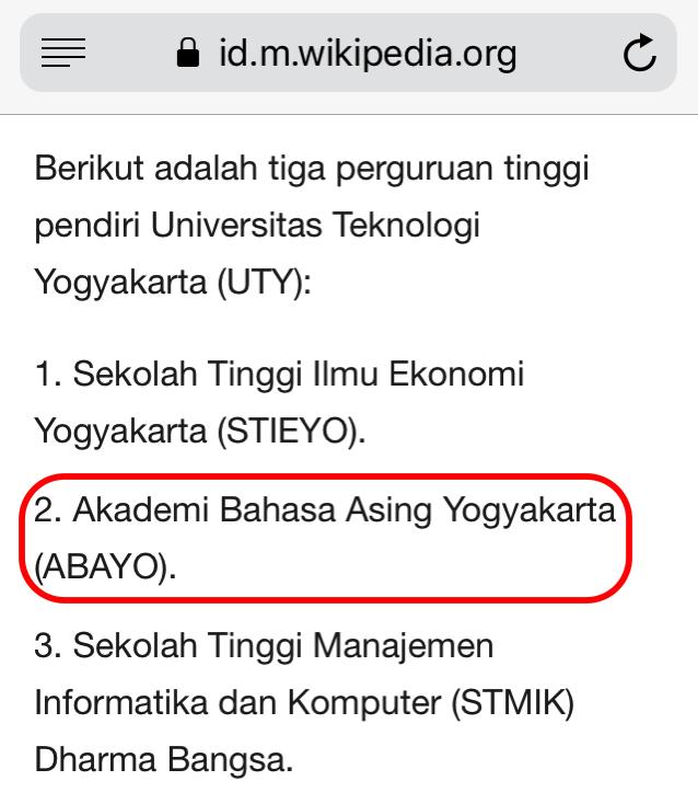 Akademi Bahasa Asing Yogyakarta