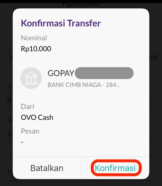 Top up go pay 10